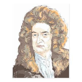 De heer Isaac Newton Briefkaart