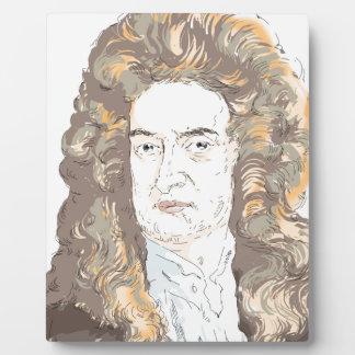 De heer Isaac Newton Fotoplaat