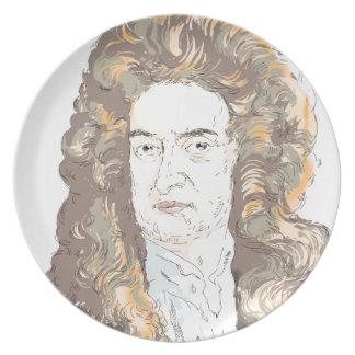 De heer Isaac Newton Melamine+bord