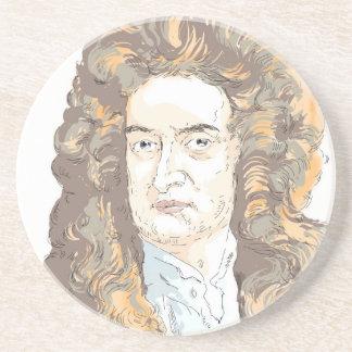 De heer Isaac Newton Zandsteen Onderzetter