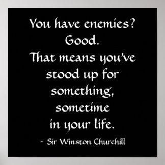 De heer Winston Churchill Quote Poster