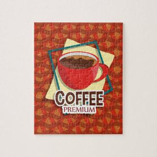 De heerlijke kop van de illustratie van koffie foto puzzels