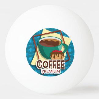 De heerlijke kop van de illustratie van koffie met pingpongballen