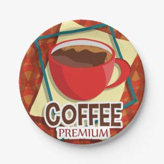 De heerlijke kop van de illustratie van koffie papieren bordjes