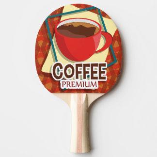 De heerlijke kop van de illustratie van koffie pingpongbatje