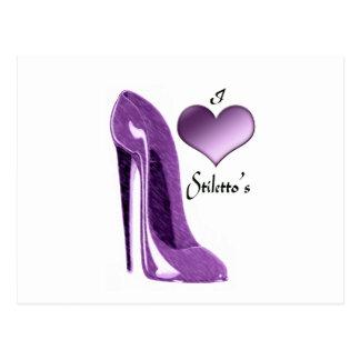 De heerlijke Lila Schoen van de Stiletto en 3D Briefkaart