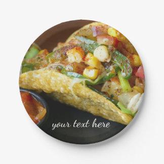 de heerlijke Mexicaanse foto van Taco's Papieren Bordje