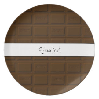 De heerlijke Vierkanten van de Chocolade Diner Borden