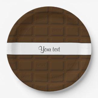 De heerlijke Vierkanten van de Chocolade Papieren Bordjes