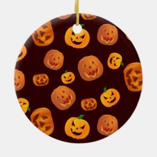 De hefboom-o-Lantaarn van Halloween het Patroon Rond Keramisch Ornament