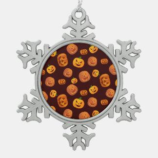 De hefboom-o-Lantaarn van Halloween het Patroon Tin Sneeuwvlok Ornament