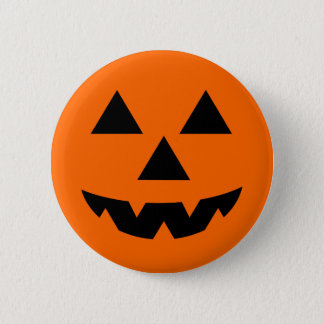 De hefboom-o-Lantaarn van Halloween Trick or treat Ronde Button 5,7 Cm