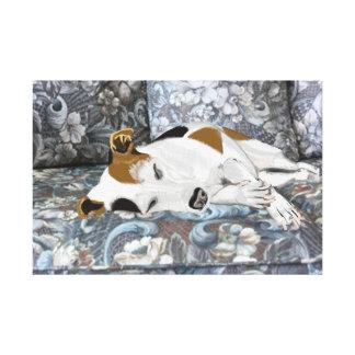 De Hefboom Russell Terrier van de slaap Canvas Print