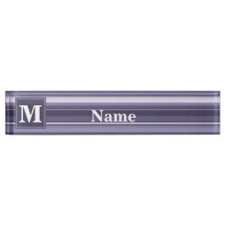 De heide paarse strepen van het monogram