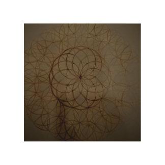 De heilige cirkel van de meetkundebloem afdrukken op hout