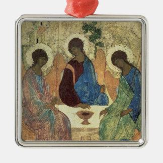De heilige Drievuldigheid, 1420s Zilverkleurig Vierkant Ornament