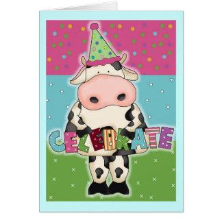 De heilige Koe viert de Kaart van de Verjaardag