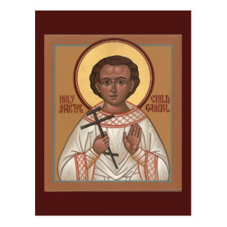 De heilige Martelaar Gabriel Prayer Card van het Briefkaart