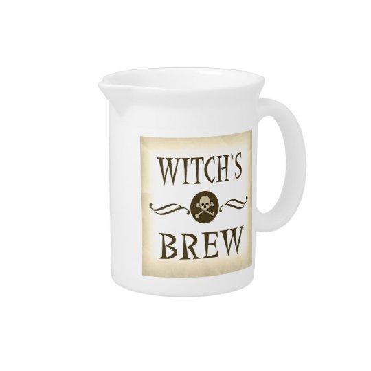 De heks brouwt het Spookhuis van de Steunen van Bier Pitchers