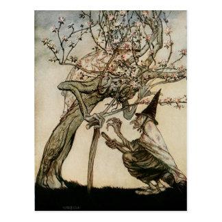 De heks en de Oude Dame Tree 1922 Briefkaart