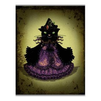 De Heks van de kat Briefkaart