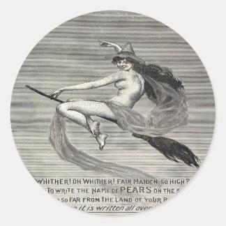 De Heks van de Zeep van peren Ronde Stickers