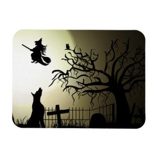 De Heks van Halloween en Huilende Hond Magneet