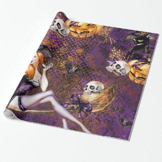 De Heks van Halloween Inpakpapier