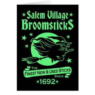 De Heks van Salem op de Hekserij van Halloween van Briefkaarten 0