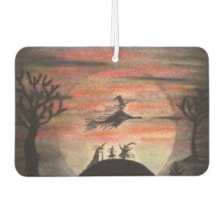 De heksen vieren een Volle maan tijdens Halloween Auto Luchtverfrissers