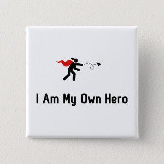 De Held van het Vliegtuig van het document Vierkante Button 5,1 Cm