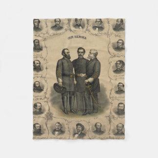 De Helden van de Burgeroorlog Fleece Deken