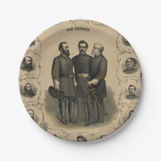De Helden van de Burgeroorlog Papieren Bordje