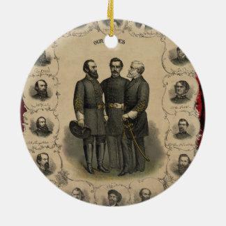 De Helden van de Burgeroorlog Rond Keramisch Ornament