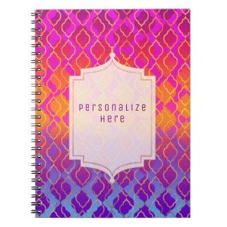 De heldere Arabische Marokkaanse Douane Glam van Notitieboek