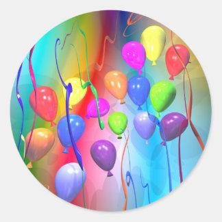 De heldere Ballons van de Verjaardag Ronde Sticker
