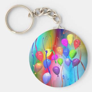 De heldere Ballons van de Verjaardag Sleutelhanger