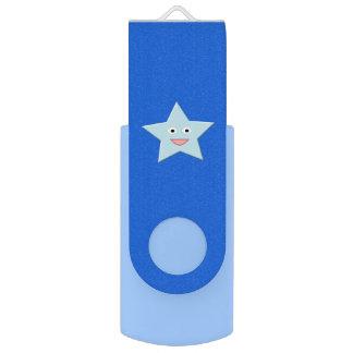 De heldere Blauwe Aandrijving van USB van de USB Stick
