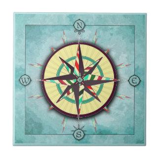 De heldere Ceramiektegel van het Kompas van de Keramisch Tegeltje