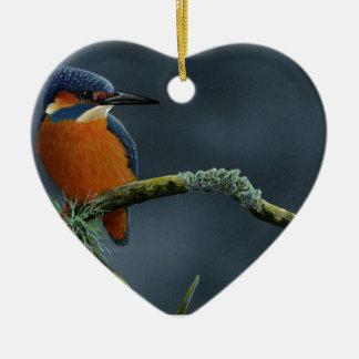 De heldere giften van de Ijsvogel Keramisch Hart Ornament