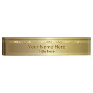 De heldere Glanzende Gouden Naam DIY en de Titel Naambord