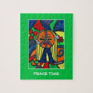 De Heldere Kleuren van de Stukken van Vredestijd Puzzel