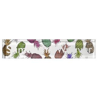 De heldere Kleurrijke Tropische Ananassen van de Naambord