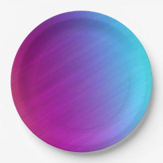 De heldere Regenboog kleurde de Abstracte Borden Papieren Bordje
