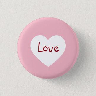 De heldere Roze Knoop van de Valentijnsdag van de Ronde Button 3,2 Cm