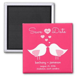De heldere Roze Vogels van de Liefde bewaren de Vierkante Magneet