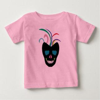 De heldere Schedel van de Suiker Baby T Shirts