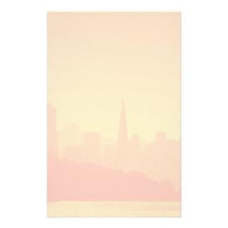 De heldere zonsondergang van San Francisco Briefpapier