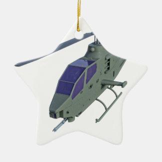 De helikopter van Apache in vooraanzicht Keramisch Ster Ornament