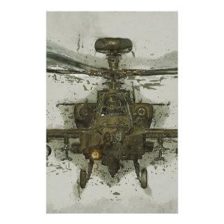 De Helikopter van de Aanval van Apache Briefpapier